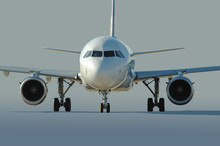 Commercial Airliner Taxiing At...