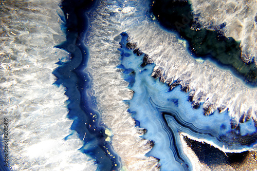 Photo sur Aluminium Cristaux blue geode