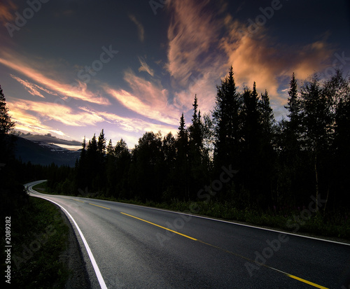 Papiers peints Autoroute nuit norway highway