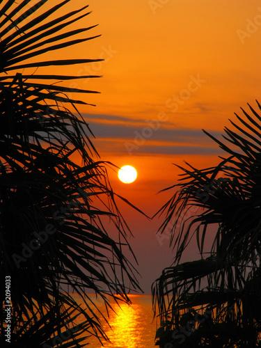 Foto-Kissen - sunset in the sochi
