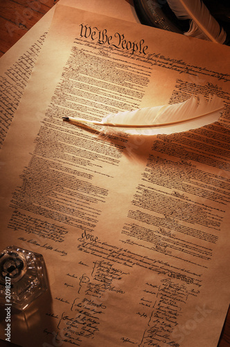 Obraz na płótnie us constitution full