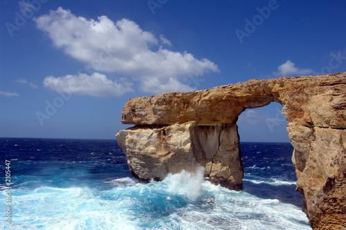 Foto-Leinwand - Gozo bei Malta Felsenbogen Azur Window