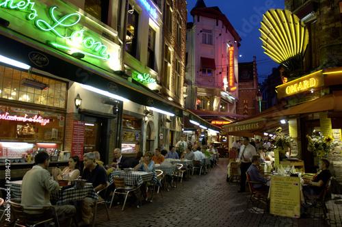 Poster Brussel vita notturna a bruxelles