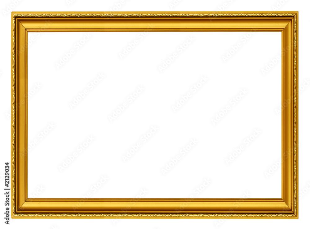 Fototapety, obrazy: golden horizontal frame