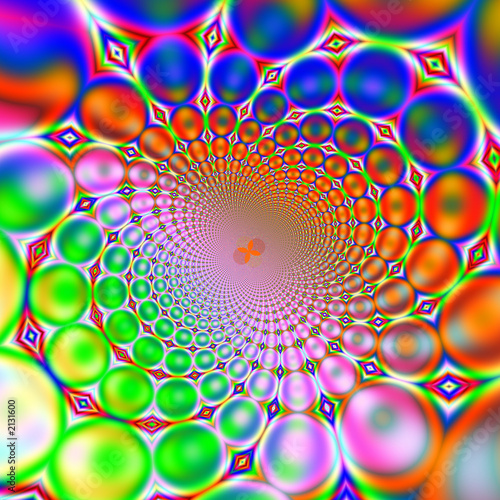 Poster Psychedelique retro 60s or 70s background
