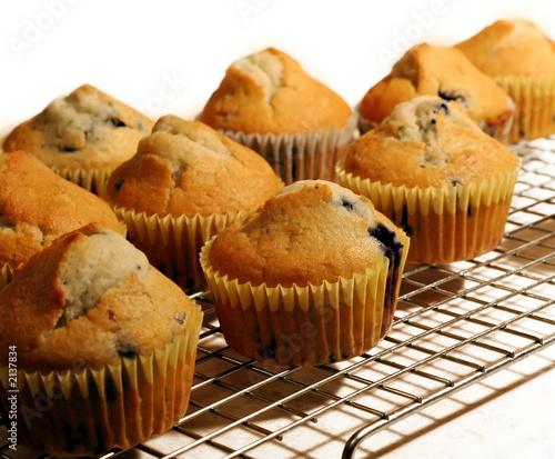 Fotografie, Obraz  blueberry muffins