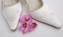 Satin Beaded Wedding Shoes