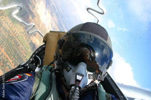 pilot bei der arbeit Wallpaper Mural