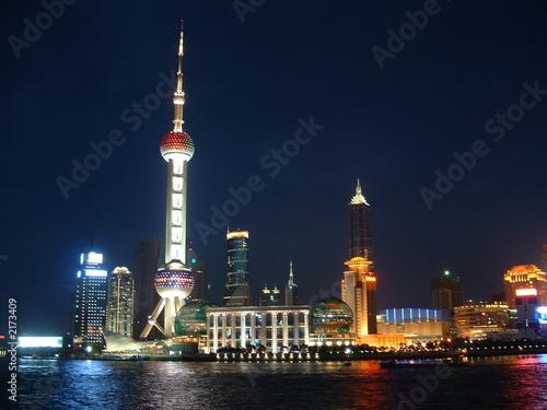 Spoed Foto op Canvas Shanghai shanghai night