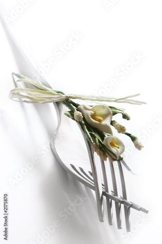 Fotografía  tenedores y flores