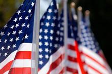 American Flag Display In Honor...