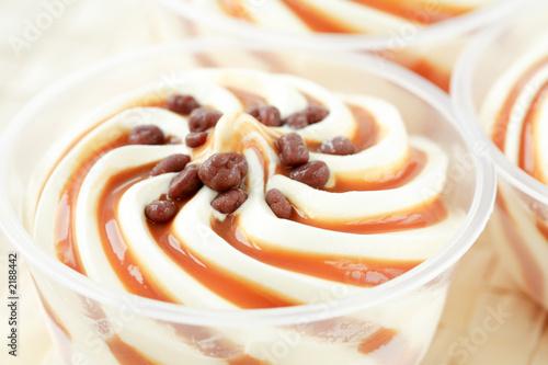 vanilla ice cream with caramel