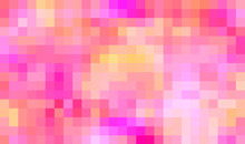 Pink And Warm Colors Large Pixels Background.