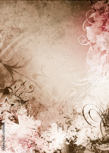 Aluminium Prints Butterflies in Grunge grunge background texture