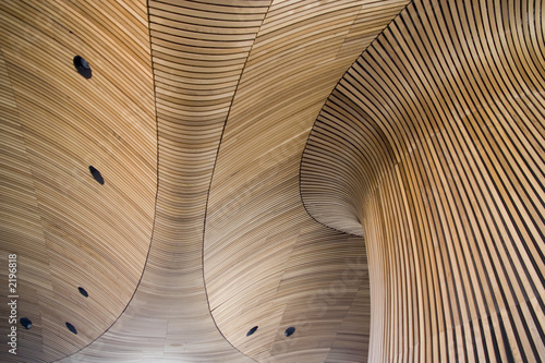 architectural details of welsh assembly building Tablou Canvas