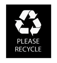 Please Recycle Sign