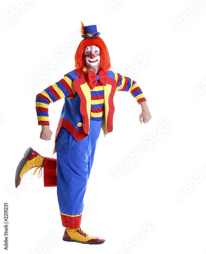 Canvas-taulu dancing circus clown