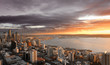 canvas print picture seattle sunset