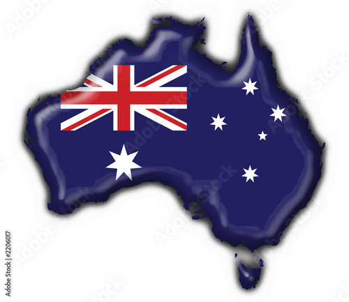 Australia Map With Flag.Bottone Cartina Australiana Australia Map Flag Buy This Stock
