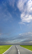 Leinwandbild Motiv blue sky road
