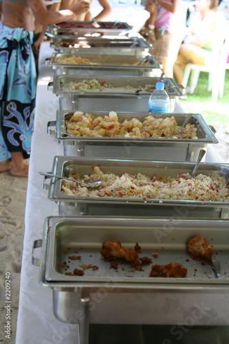 Deurstickers Bakkerij outdoor food buffet