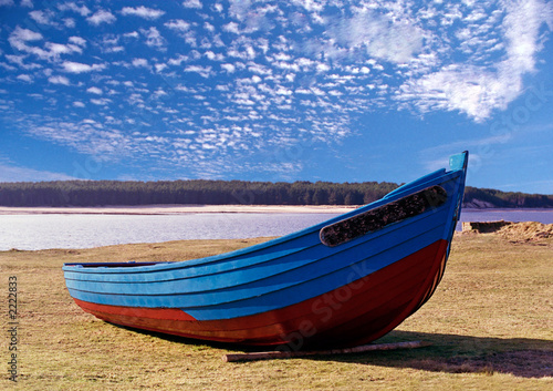 Canvas Print findhorn boat