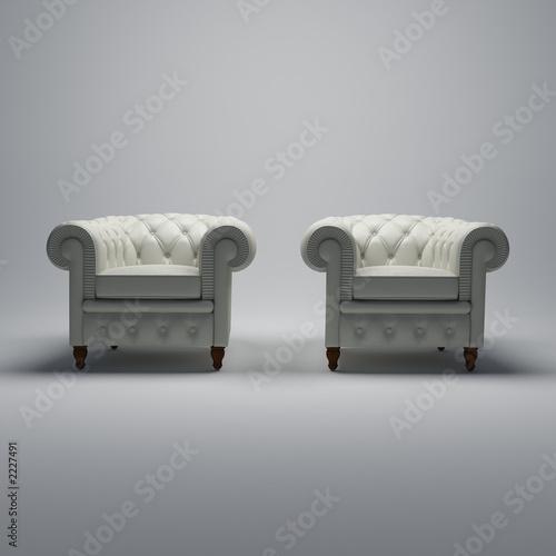 Fotografie, Obraz  club solo cuir beige front