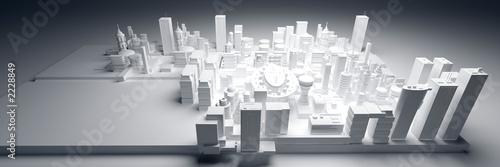 Obraz maquette ville1 - fototapety do salonu