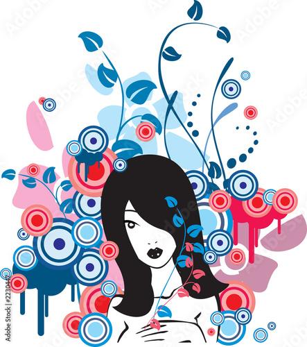 Fototapety, obrazy: blue girl
