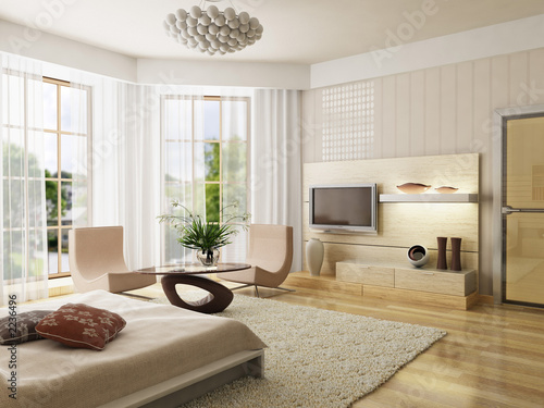 Fotografía  bedroom interior rendering