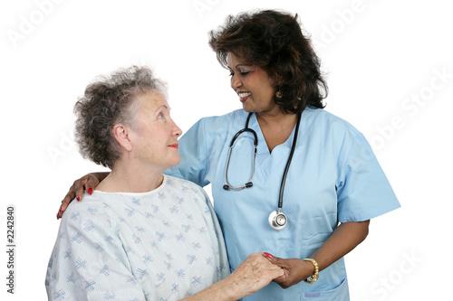 Fotografia  patient & nurse