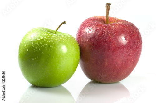 Staande foto Vruchten red and green apple's