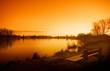 Leinwandbild Motiv early morning sunrise
