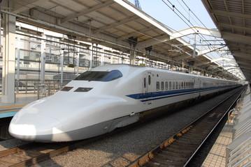 Fototapeta bullet train at a station