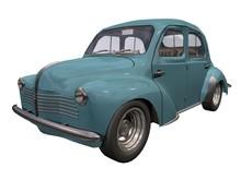 Automobile Années 50-60 Bleue