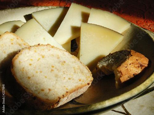 Foto op Aluminium Vlees pain et fromage