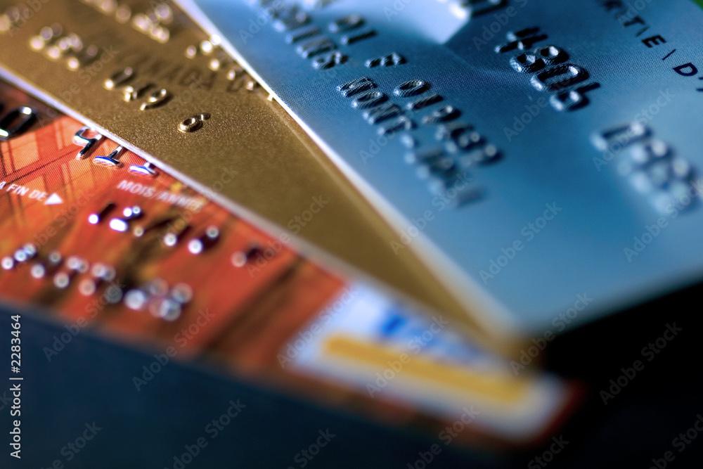 Fototapeta cartes de crédit