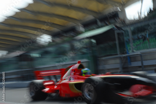 Tuinposter F1 stock photo of a1 grand prix in sepang malaysia 20