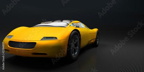 Photo  speedcar yellow carbon1