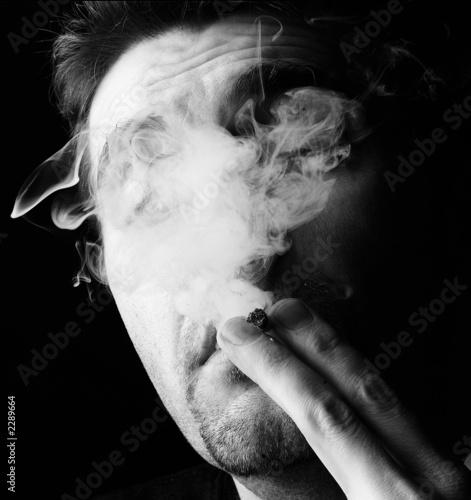 Fotografie, Obraz  fumée de cigarette