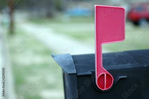 Fényképezés  mailbox with flag up