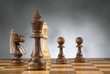 wooden chess game pieces