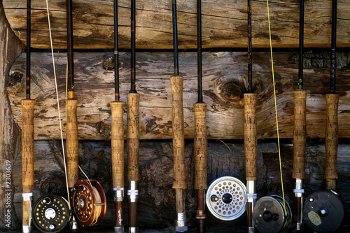 Printed kitchen splashbacks Fishing fly fishing poles 001