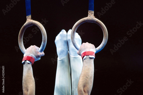 La pose en embrasure Gymnastique gymnastics rings 004