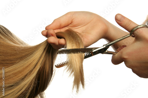 Fotografering coiffure ciseaux