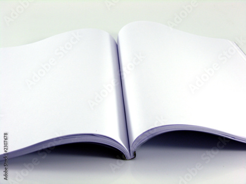 Livre Blanc Ouvert Pages A4 Buy This Stock Photo And