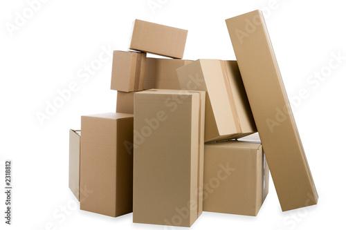 Fotografía  viele kartons