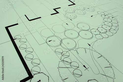 Fotografie, Obraz  landscaping blueprints 1