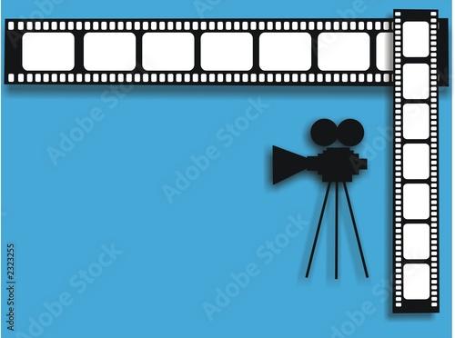 Valokuva  film stripe and cinecamera shape
