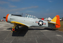 Vintage T-6 Training Airplane